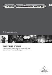 RACKTUNER BTR2000 - Behringer