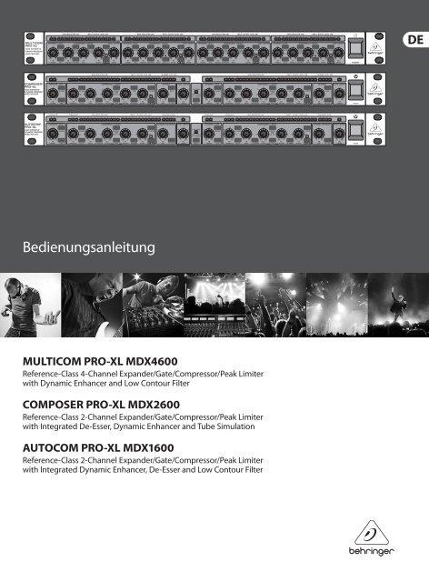 multicom pro-xl mdx4600/composer pro-xl mdx2600 ... - Behringer