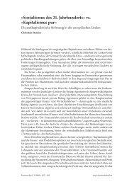 Sozialismus des 21. Jahrhunderts« vs. »Kapitalismus ... - BEIGEWUM
