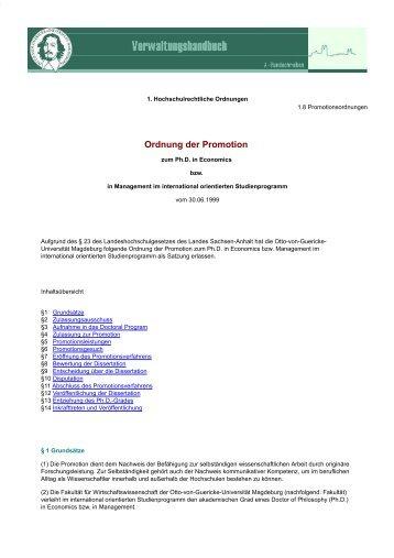 Fakultät für Wirtschaftswissenschaft - PhD Economics
