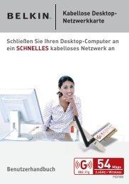 Kabellose Desktop- Netzwerkkarte Benutzerhandbuch - Belkin