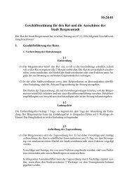 Geschäftsordnung für den Rat und die Ausschüsse der Stadt ...