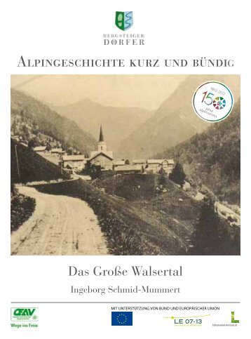 Alpingeschichte: Das Große Walsertal - Bergsteigerdörfer