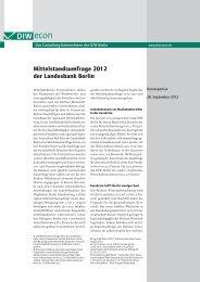 Mittelstandsumfrage 2012 der Landesbank Berlin - Berlin Partner ...