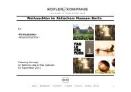 Cateringkonzept Kofler Kompanie_JMB ... - Berlin Locations