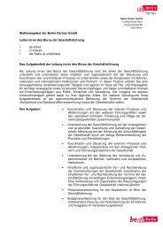 Stellenausschreibung_LeiterIn Büro GF_Homepage_2. Änderung