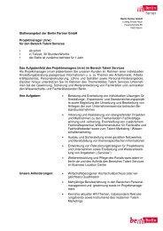 Stellenausschreibung_ProjektmanagerIn Talent Services_Homepage
