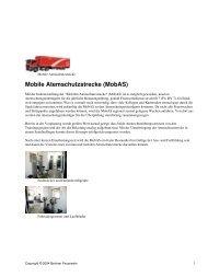 Mobile Atemschutzstrecke (MobAS) - Berliner Feuerwehr