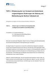 Erläuterung der von Vorstand und Aufsichtsrat vorgeschlagenen ...