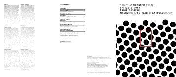 Abendprogramm [PDF, 105 KB] - Berliner Festspiele