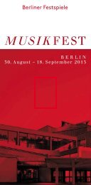 Flyer Musikfest Berlin 2013 - Berliner Festspiele
