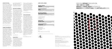 Abendprogramm [PDF, 170 KB] - Berliner Festspiele