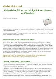 Vitalstoff Journal Kolloidales Silber und einige ... - Bermibs.de