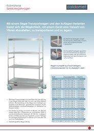 Mit einem Regal-Transportwagen und den Auflagen ... - Berndorf