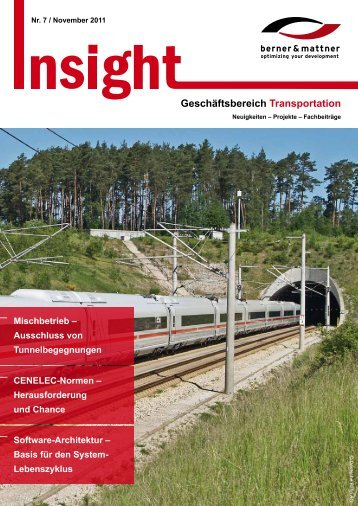 7. Newsletter 'Insight Transportation' (pdf 1,5 MB) - Berner & Mattner
