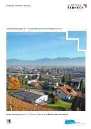 Jahresrechnungen 2012 mit Berichten und Voranschlägen für 2013 ...