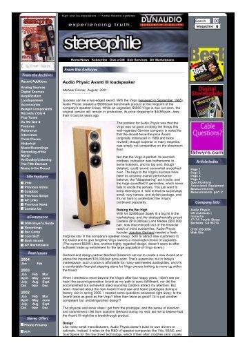 Audio Physic Avanti III loudspeaker