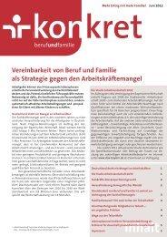 Vereinbarkeit von Beruf und Familie als Strategie gegen den
