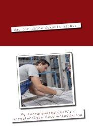 Verfahrensmechaniker/in vorgefertigte ... - Betonshop