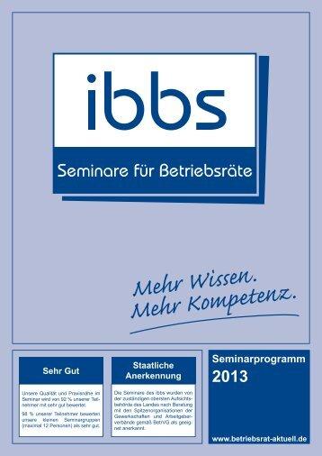 Seminarprogramm - ibbs GmbH - Institut für Bildung, Beratung und ...
