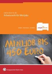 Arbeitsrecht für Minijobs - bewerberAktiv