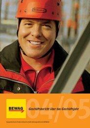 Geschäftsbericht über das Geschäftsjahr - Energie Burgenland