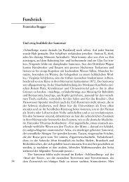 Fundstück - Berner Zeitschrift für Geschichte