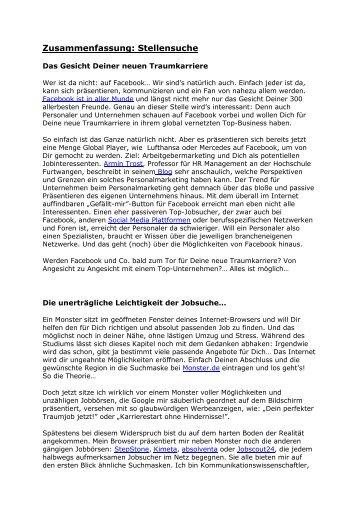 Die Stellensuche - Bewerberblog.de