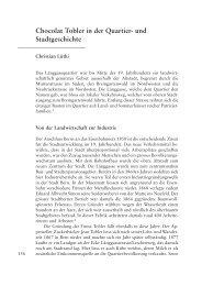 Chocolat Tobler in der Quartier - Berner Zeitschrift für Geschichte