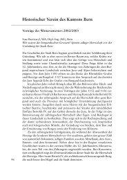 Vorträge des Wintersemesters 2002/2003 - Berner Zeitschrift für ...