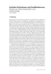 Albrecht von Hallers Wertekonflikt in der Solddienstfrage - Berner ...
