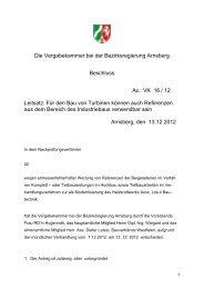 Die Vergabekammer bei der Bezirksregierung Arnsberg Beschluss ...