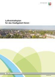 Luftreinhalteplan für das Stadtgebiet Düren - Bezirksregierung Köln