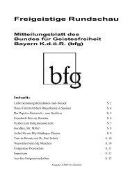 Freigeistige Rundschau 4-2007 - Bund für Geistesfreiheit Bayern ...