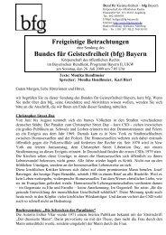 26.7.2009 - Bund für Geistesfreiheit Bayern K.d.ö.R.