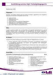 Ausbildung zum/zur dipl. Freizeitpädagogen/in