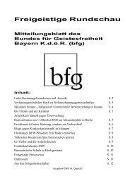 Freigeistige Rundschau 4-2008 - Bund für Geistesfreiheit Bayern ...