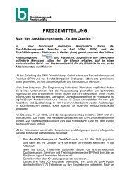 """7. Juli 2009: Start des Ausbildungshotels """"Zu den Quellen"""""""