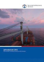 Jahresbericht 2012 - Berufsgenossenschaft für Transport und ...