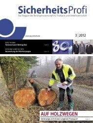 SicherheitsProfi 3/2012 - Berufsgenossenschaft für Transport und ...