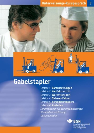 Gabelstapler - Fleischerei-Berufsgenossenschaft