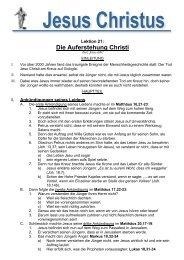 Jesus Christus 21: Die Auferstehung - Bibelinfo.net