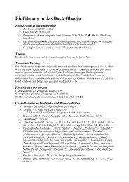 Einführung in das Buch Obadja - Bibelkreis.ch