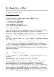 Der Islam im Licht der Bibel 1. Das vorislamische ... - Bibelkreis.ch