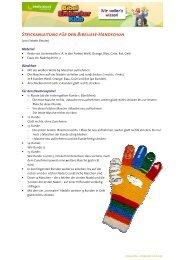 Bibellese-Handschuh - Strickanleitung - Bibellesebund