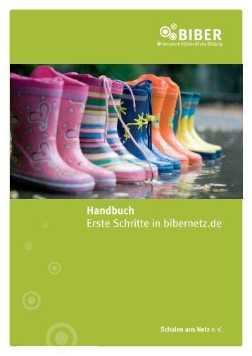 Handbuch Erste Schritte in bibernetz.de