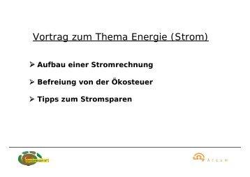 Vortrag zum Thema Energie (Strom)