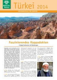 (Kappadokien) 2014 (pdf, 361 kB) - Biblische Reisen
