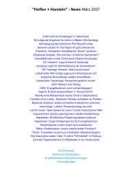 März 2007 - Evangelische Vereinigung für Bibel und Bekenntnis in ...