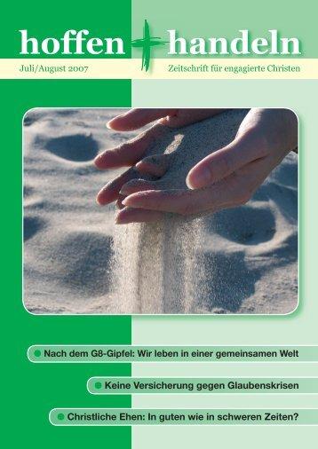 Juli / August 2007 - Evangelische Vereinigung für Bibel und ...